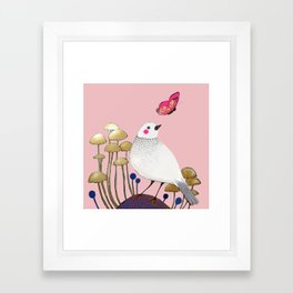 pink wall Framed Art Print