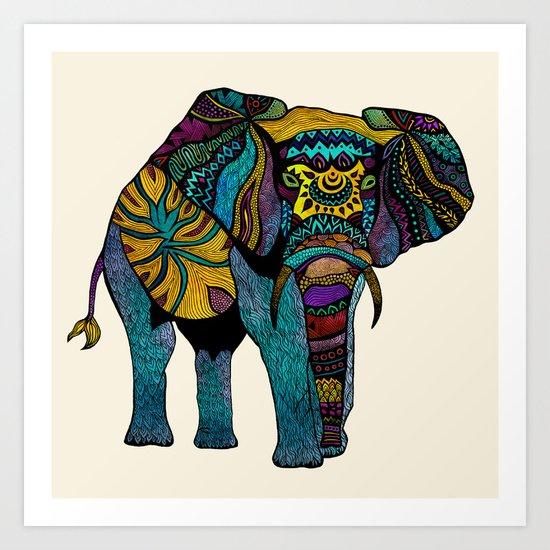 Elephant of Namibia Art Print