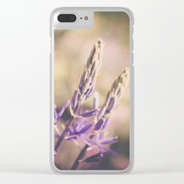 Purple Lupine Clear iPhone Case