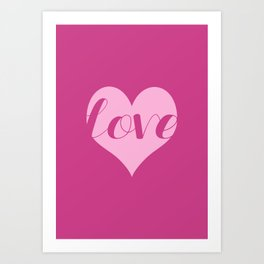 Love in a heart  Art Print