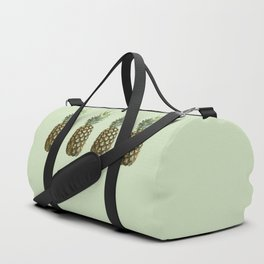 Four Juicy Pineapples Summer Fruits Series - Green Duffle Bag