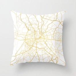 BERLIN GERMANY CITY STREET MAP ART Throw Pillow