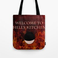 daredevil Tote Bags featuring Daredevil  by KP Designs