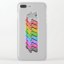 Meeple Rainbow Row Clear iPhone Case