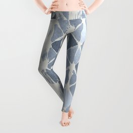 Simply Braided Chevron Indigo Blue on Lunar Gray Leggings