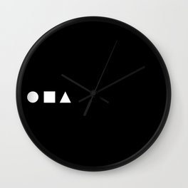 Square Pegs in Round Holes Wall Clock