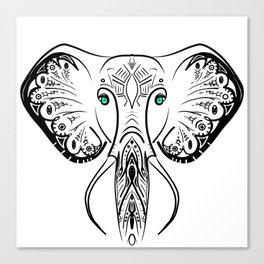 Elephant Zen Doodle Canvas Print