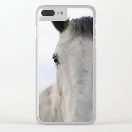 Horse Portrait III Clear iPhone Case