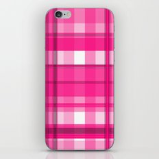 Shades of Pink and White Plaid iPhone Skin