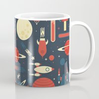 stickers Mugs featuring Space Odyssey by Tracie Andrews