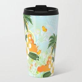 Plumeria flowers and guitar Travel Mug