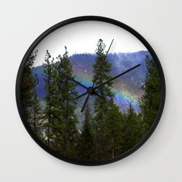 Over the rainbow through the forest... Wall Clock