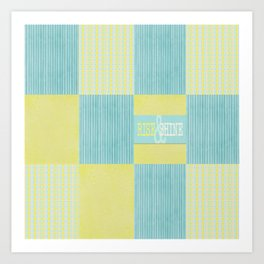 pale blue and yellow  Art Print