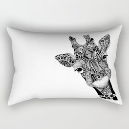 Curious Giraffe Rectangular Pillow