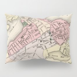 Vintage Map of Portsmouth NH (1877) Pillow Sham