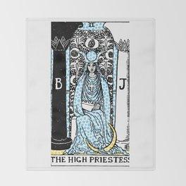 Modern Tarot - 2 The High Priestess Throw Blanket