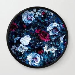 Night Garden Blue Wall Clock