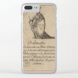 Game of Geography - Dalmatia (Stefano della Bella, 1644) Clear iPhone Case