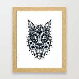 Fox Wolf Tribal Head Framed Art Print
