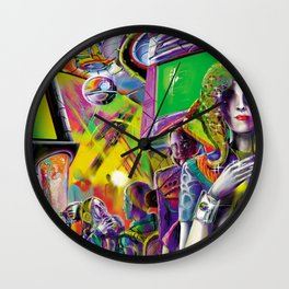 Cybercafé (Closeup) Wall Clock
