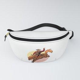 Vintage Retro Western Cowboy Horseback Rodeo Gift  Fanny Pack