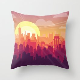 Brooklyn Sunset Throw Pillow
