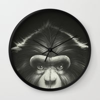 tooth Wall Clocks featuring Monkee with Tooth by Dr. Lukas Brezak