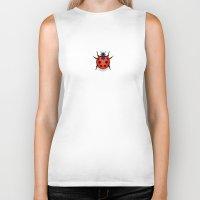 ladybug Biker Tanks featuring Ladybug by PIXELFLY