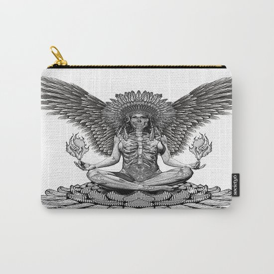 The angel start to pray... Carry-All Pouch