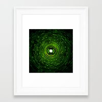 green lantern Framed Art Prints featuring Green Lantern by Electra