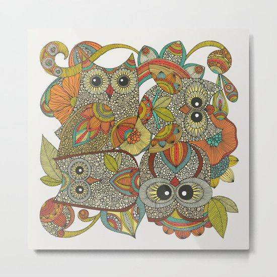 4 Owls Metal Print
