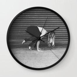 Yoga Pose - Half Crow Wall Clock