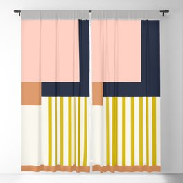 Sol Abstract Geometric Print in Multi Blackout Curtain
