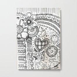 doodles by beccasartsycorner Metal Print