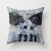 punisher Throw Pillows featuring THE PUNISHER by JANUARY FROST