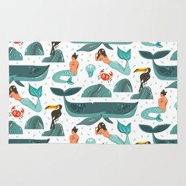 Mermaid pattern Rug