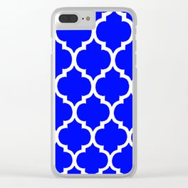 MOROCCAN COBALT BLUE AND WHITE PATTERN Clear iPhone Case