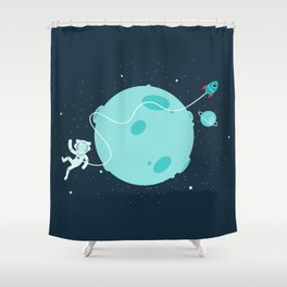 Around the moon Shower Curtain