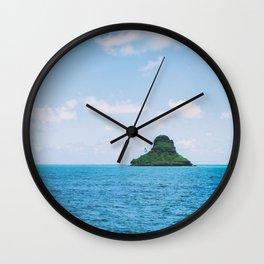Mokolii Island Straight Ahead Wall Clock