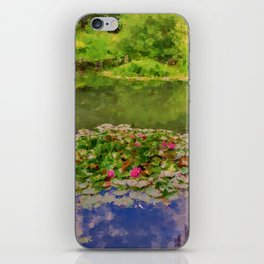 The Water Lily Pond inspired by impressionist  iPhone Skin