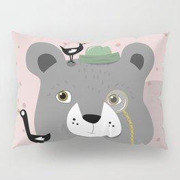 Crazy bird bear Pillow Sham
