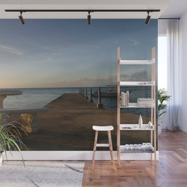 Solitude with a Boat and Table Wall Mural