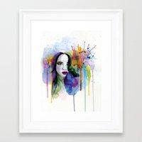eternal sunshine Framed Art Prints featuring Eternal sunshine by YOUMEECHO  ILLUSTRATION STUDIO