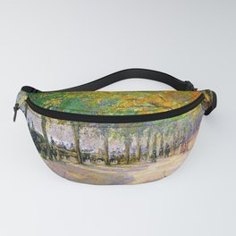 Hyde Park London 1890 By Camille Pissarro   Reproduction   Impressionism Painter Fanny Pack