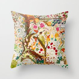 Fantasy Jacobean Forest Throw Pillow