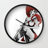 ruby Wall Clocks featuring Ruby by Ivriniel Arts