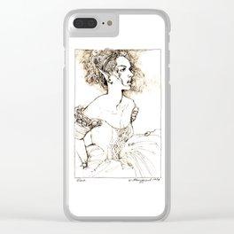 Mara (sepia) Clear iPhone Case