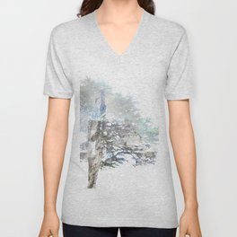 Where the sea sings to the trees - 5 Unisex V-Neck