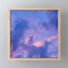 Dusk Clouds Framed Mini Art Print