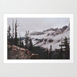 Fog in the Cascades Art Print